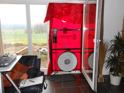 Blower Door Test nach Einzug